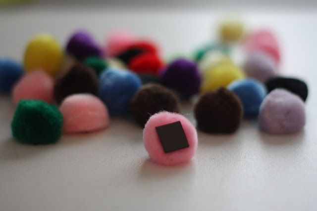 Magnetic Pom Pom activities and printables