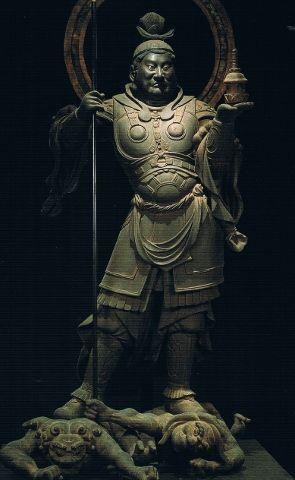 毘沙門天立像-bisyamontenryuuzou-(vaizravaNa) One person of the Buddha of a 天部(tenbu) ,Moreover, one in four persons' guardian deity. The work of an engraver 運慶. 願成就院(ganzyouzyuin)