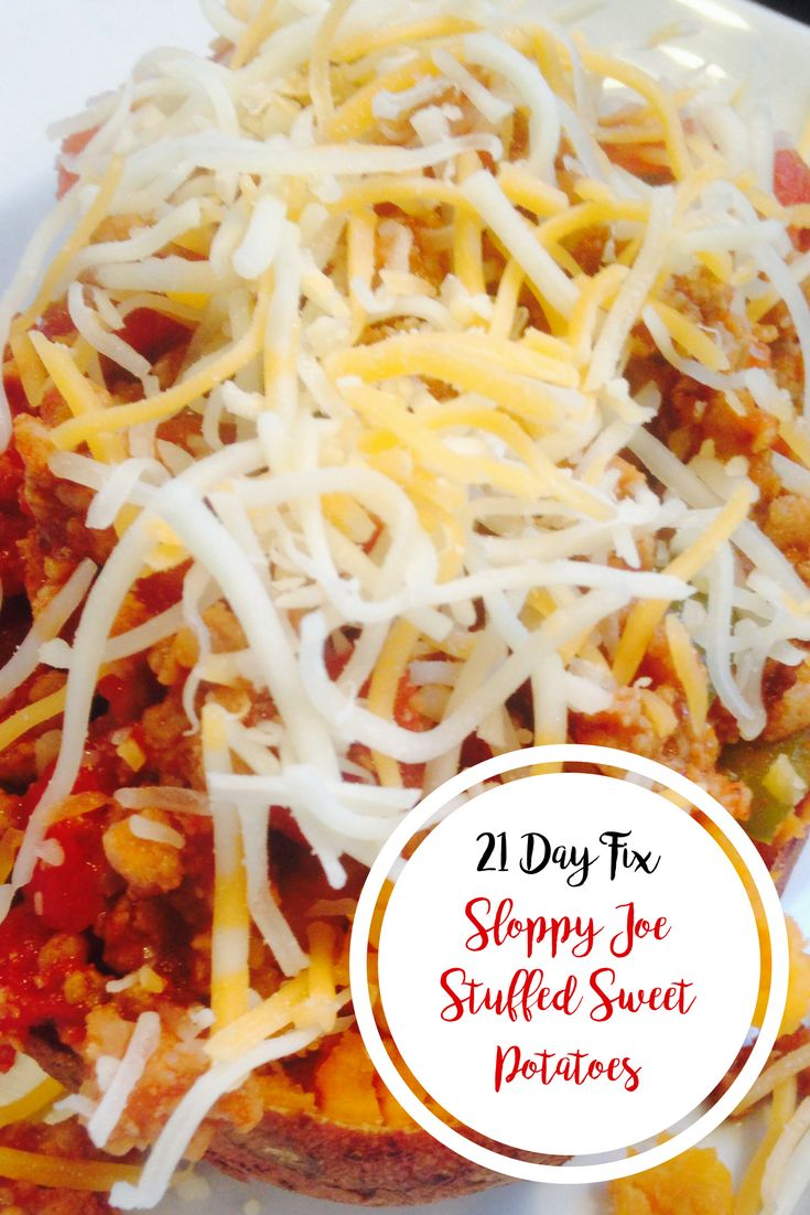 Sloppy Joe Stuffed Sweet Potatoes {21 Day Fix} | Confessions of a Fit Foodie