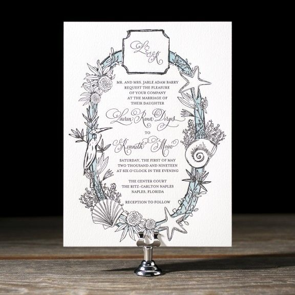 Makri letterpress wedding invitation by Kelle Anne McCarter for Bella Figura. Customize yours with Paper Passionista.