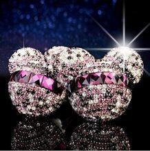 Auto styling Mickey Minnie Kristal Diamant parfum originele auto parfums Luchtverfrisser Auto Airconditioning Vent Clip(China (Mainland))