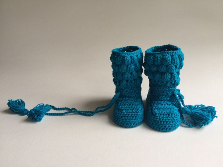Tassel Tie Bobble  Booties ~ peacock ~ cotton ~ heirloom ~ baby bootie by ataletotelldesigns on Etsy https://www.etsy.com/listing/254425322/tassel-tie-bobble-booties-peacock-cotton
