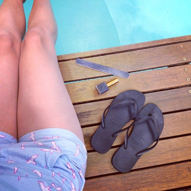 This is the plan for my afternoon today! #grey #summer #pool #swim #nails #relax #chill