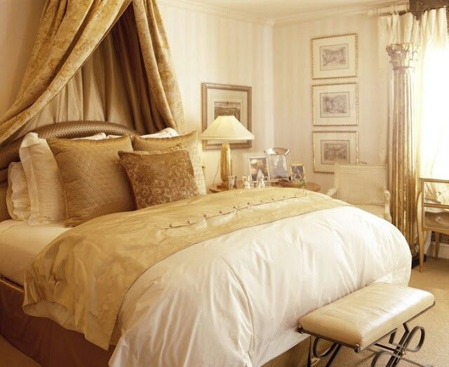 17 best images about gold and cream bedroom ideas on for Bedroom ideas cream