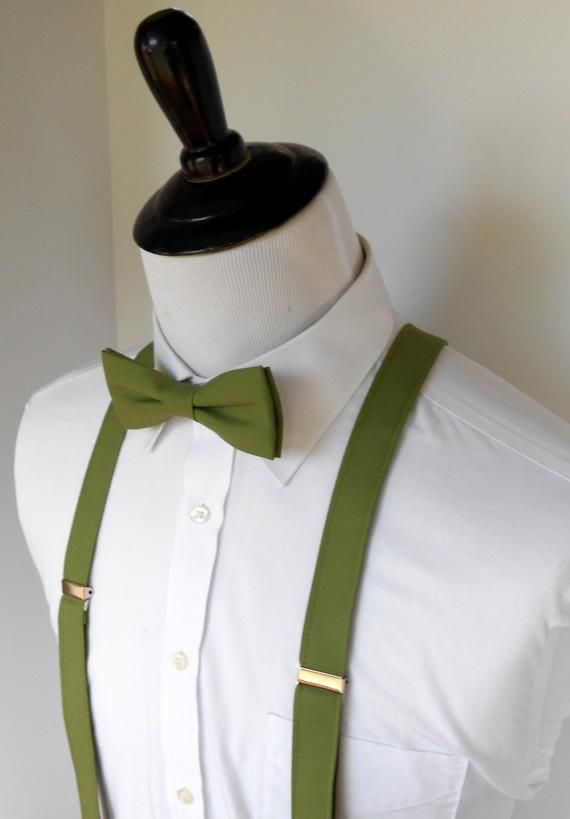 330b1467db60 Olive Green Bow Tie and Suspenders for Men in 2019 | Products ...