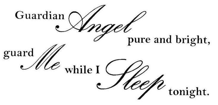 Väggdekor väggord väggtext Guardian angel pure and blight