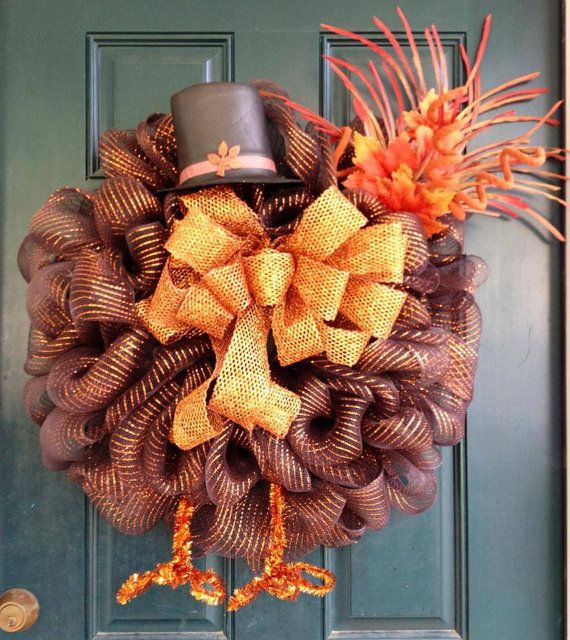 Burlap Easter Carrot Wreath by tiffanynewcomb on Etsy