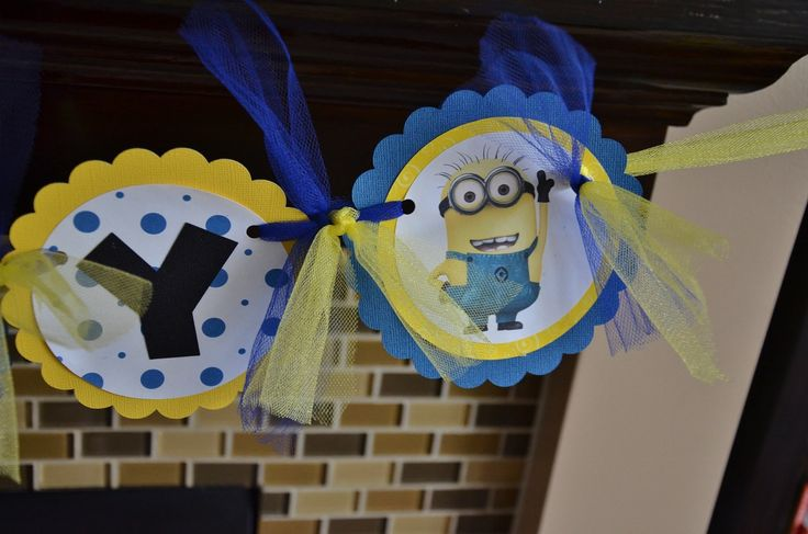 Despicable Me Birthday Banner by LoveNestBoutique on Etsy, $30.00