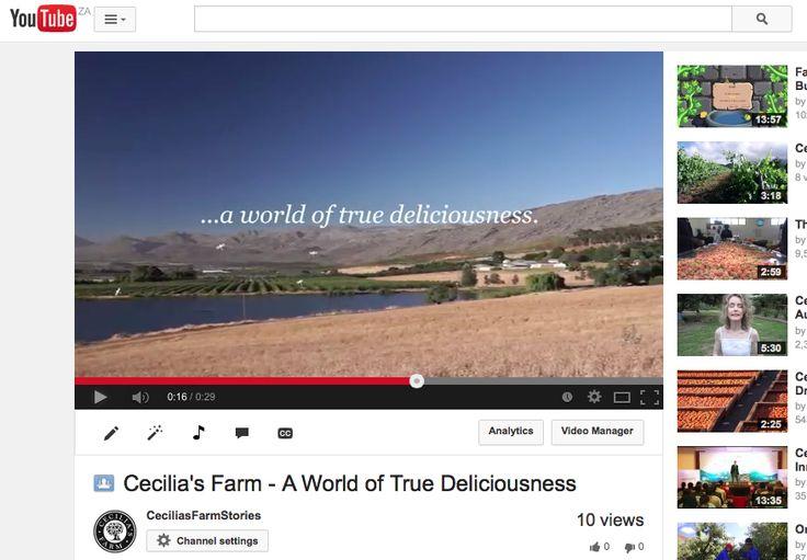 https://www.youtube.com/watch?v=7tjtnKNcgvw #aworldoftruedeliciousness #onceuponafarm #CeciliasFarm www.ceciliasfarm.co.za