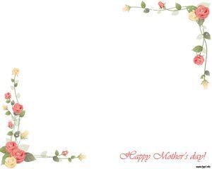 Día de la madre en Plantilla PowerPoint con diseño abstracto y fondo blanco