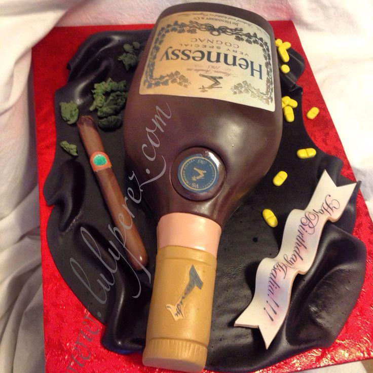 hennessy bottle cake, fondant and dominican cake edible art!