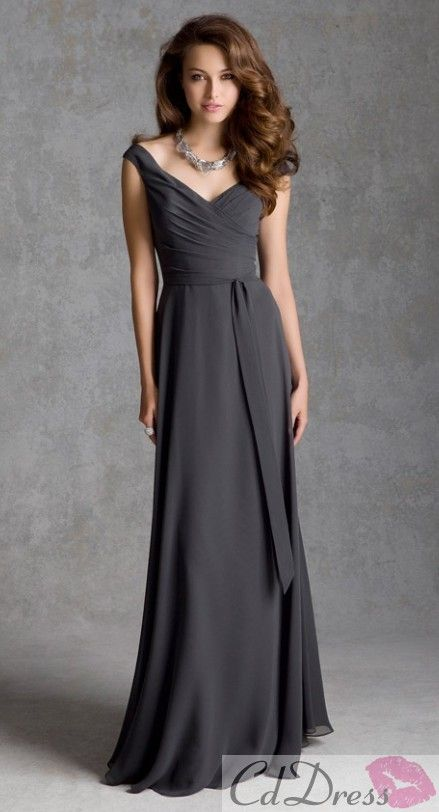 A Line V Neck Chiffon Bridesmaid Dress - Bridesmaid Dresses - Bridesmaid Dresses - Weddings - CDdress.uk