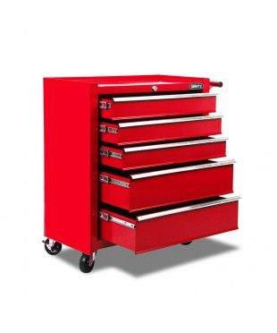 5 Drawers Toolbox - Red
