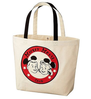 Vintage-style Mickey Mouse tote bags at Uniqlo