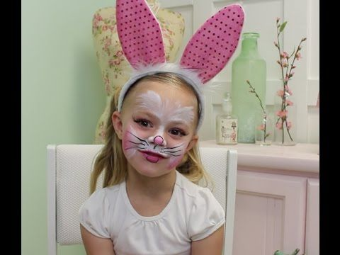 easy bunny face paint tutorial  youtube with images