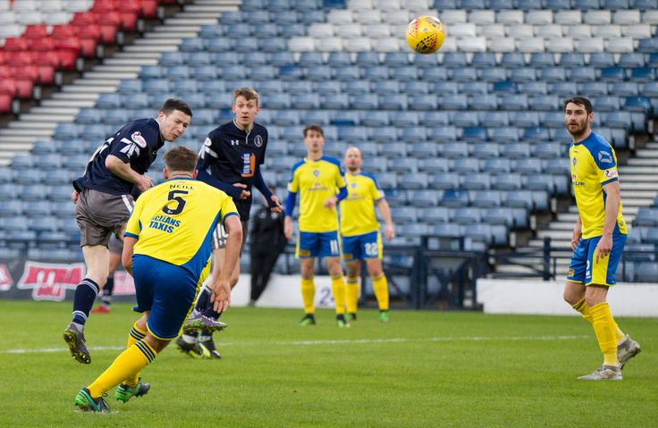 Queen's Park's Conor McVey in action during the SPFL League One game between Queen's Park and Stranraer.