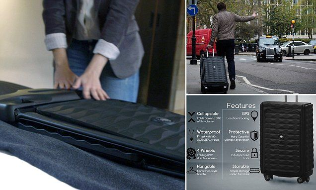 Now that's flat-pack! £200 Neit suitcase folds to just 3-inches thick and can be hung up in a wardrobe | Daily Mail Online