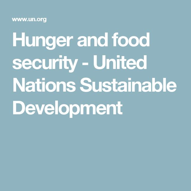 Hunger and food security - United Nations Sustainable Development