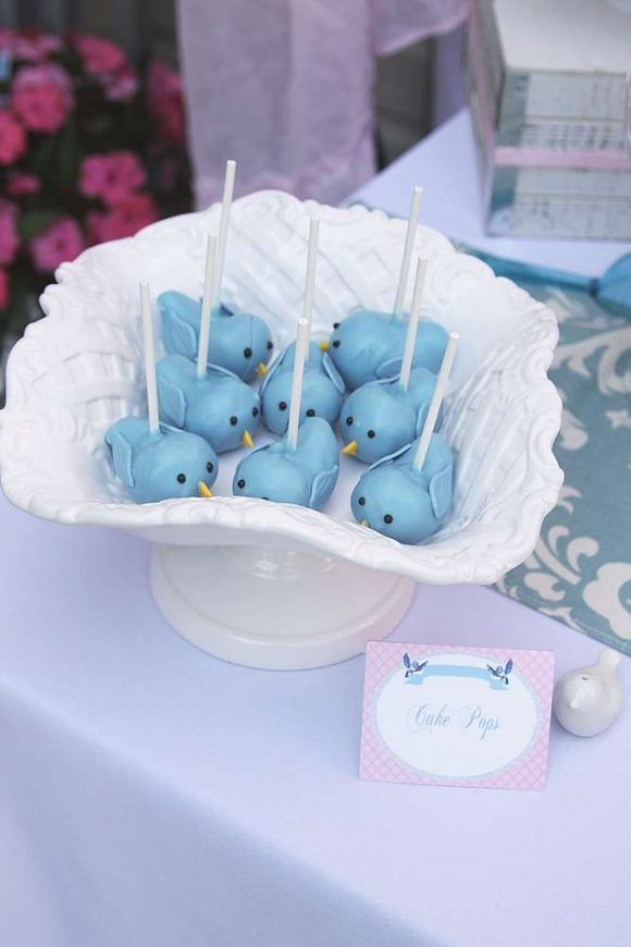 Loving these gorgeous little bird Cake Pops at this Cinderella Birthday Party! See more party ideas and share yours at CatchMyParty.com