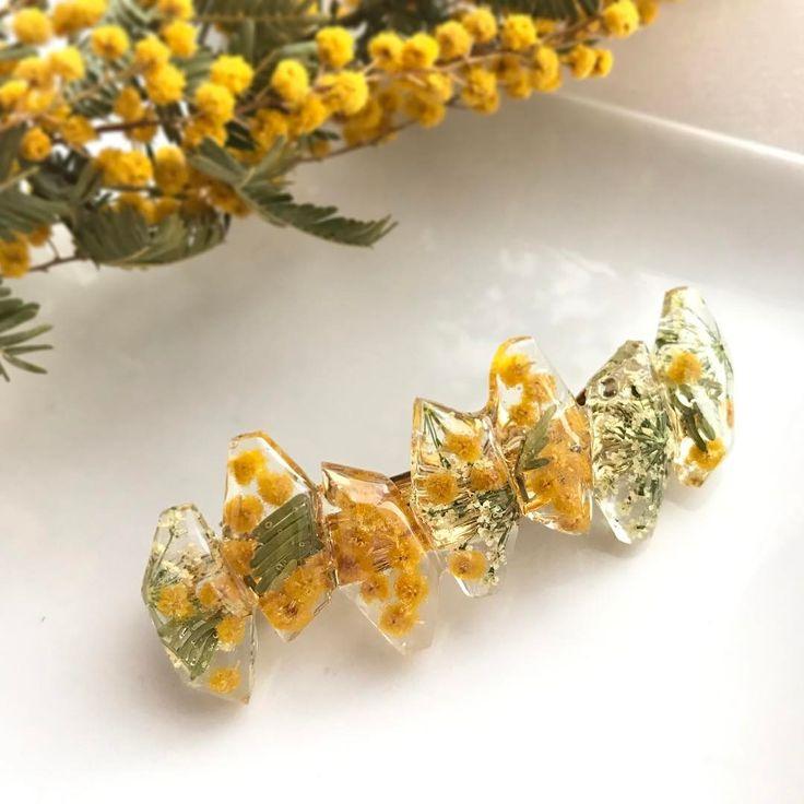 儚いお花をレジンで包む♪押し花アクセサリー♡ | Handful