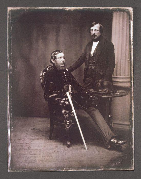 Kossuth Lajos és Pulszky Ferenc, 1852