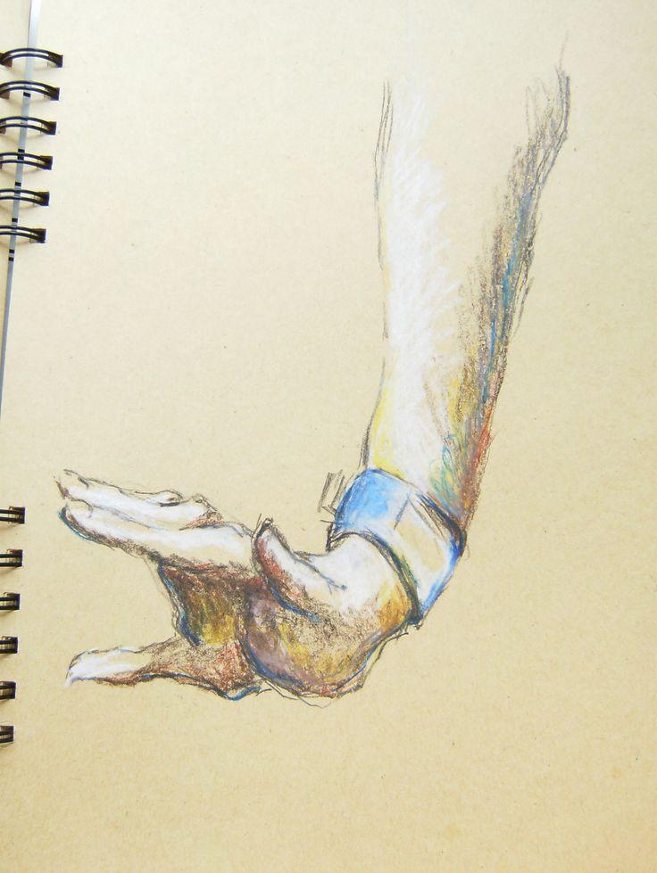 sketch  hand arm drawing  foots pastels szkic  rysunek pastele ręka dłoń