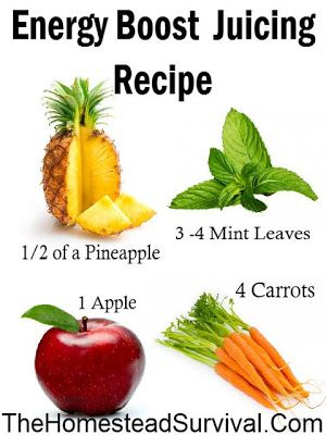 Energy Boost Juicing Recipe - Easy and Tasty !  Homestead Survival