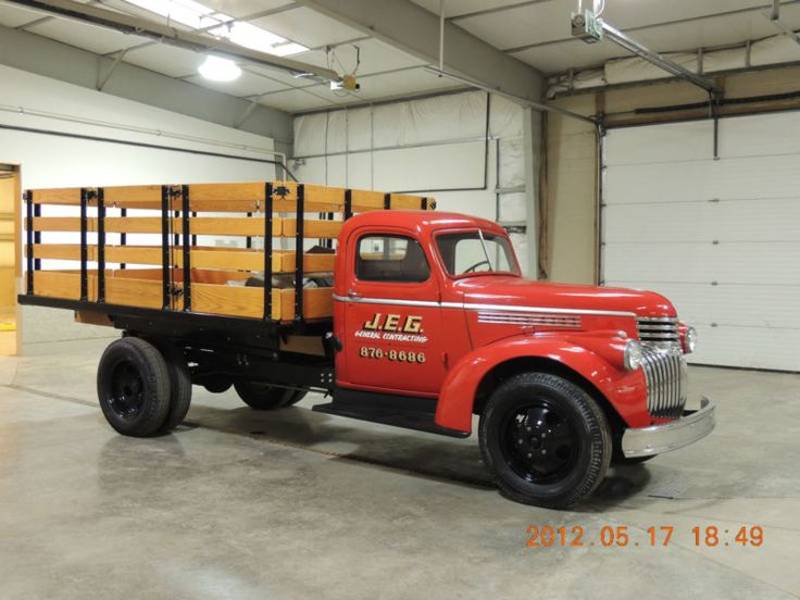 1942 Chevy 1 1/2 Ton Stake Body Dump Truck Dual Wheel