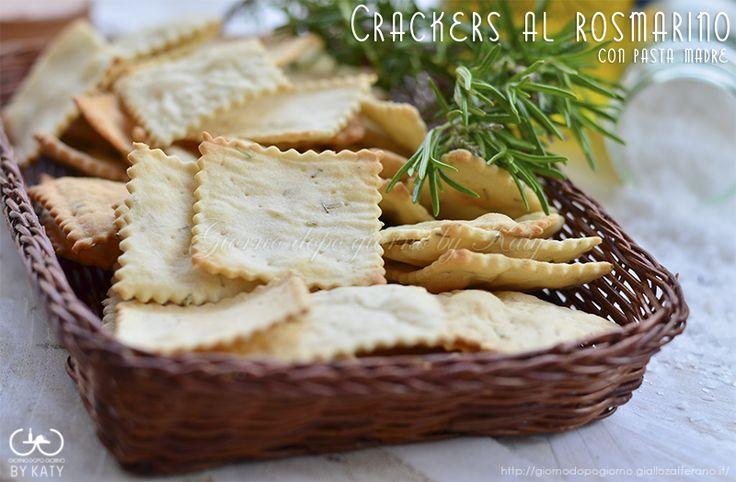 crackers al rosmarino con pasta madre