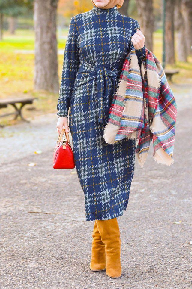Plaid Tie Front Dress www.annahariri.com
