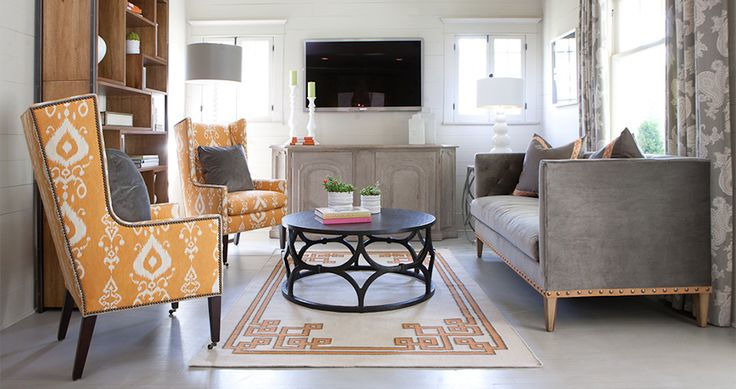 Beautiful ozark tangerine #livingspace feat. #leeindustries. #interiordesign #homedesign: