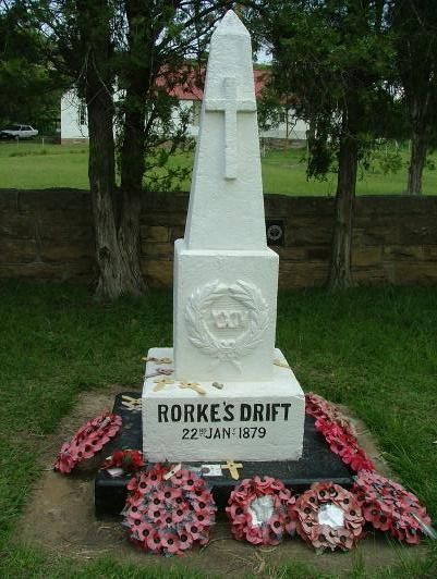 The memorial to the dead of the 24th at Rorke's Drift http://www.n3gateway.com/the-n3-gateway-route/the-battlefields-route.htm
