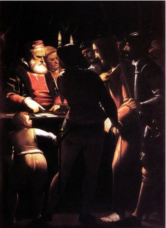 Luca Cambiaso (1527-1585), Cristo davanti a Caifa. Genova, Galleria di Palazzo Bianco (deposito dell'Accademia Ligustica).