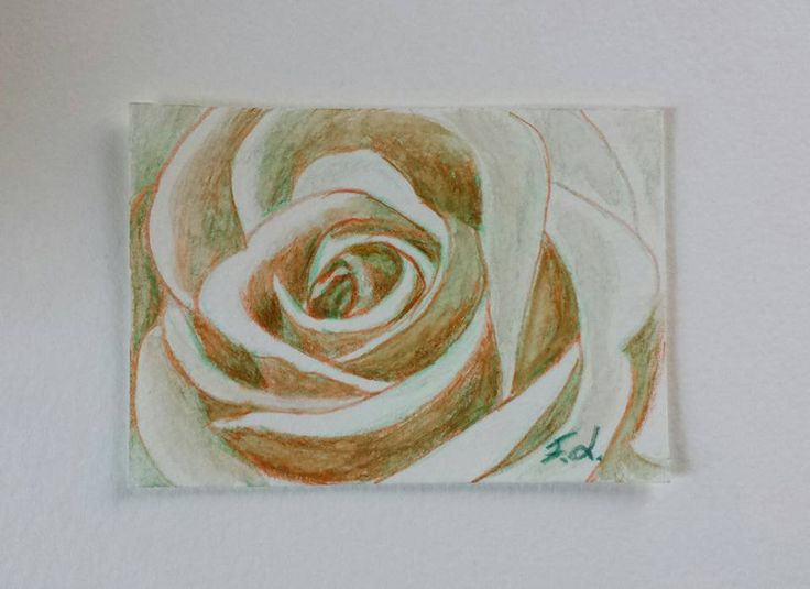 Aceo n. 19 - rosa, by Francesca Licchelli Arte, 10,00 € su misshobby.com