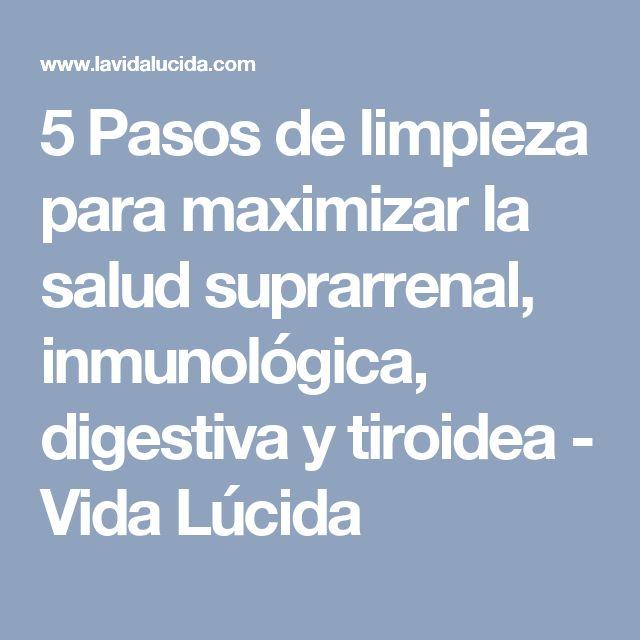 5 Pasos de limpieza para maximizar la salud suprarrenal, inmunológica, digestiva y tiroidea - Vida Lúcida