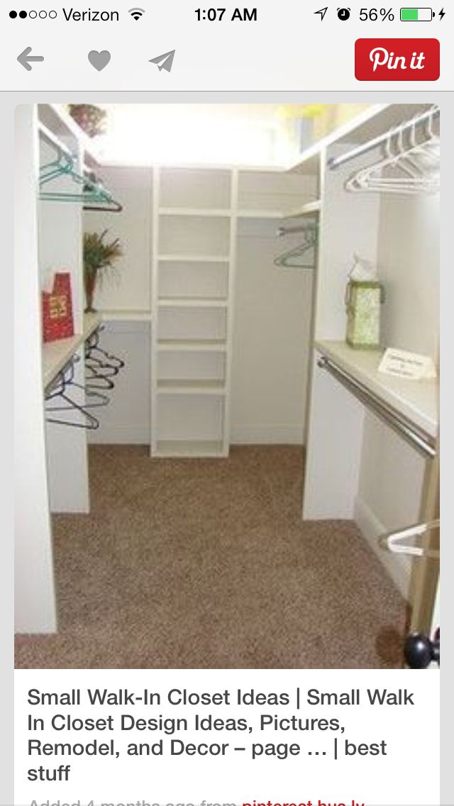 Small walk in closet bedroom closet closet redo - Walk in closet design ideas plans ...