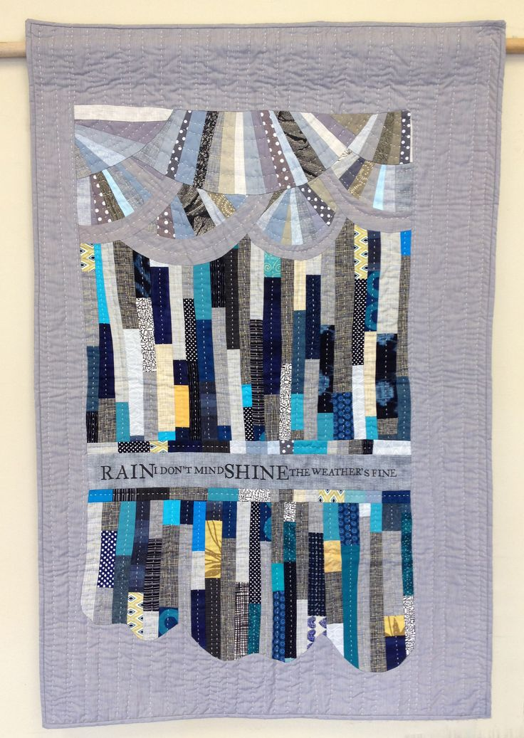 Rain A challenge quilt entered in the Pacific Northwest Guild challenge, featuring supplied metallic fabrics. The colours of the challenge fabrics reminded me of a rainy day. I was inspired …