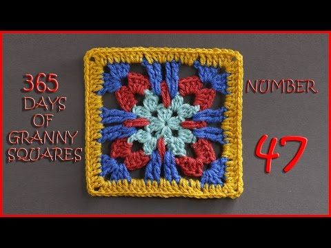 365 Days of Granny Squares Number 48 - YouTube