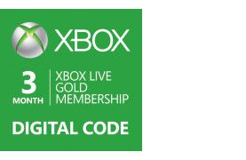 Get 3 months of online gaming with friends around the block or around the world with the Xbox LIVE 3-month Gold Card