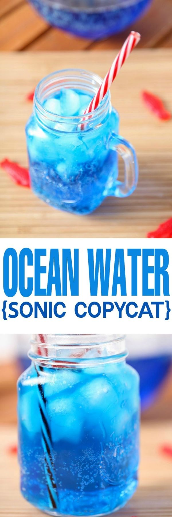 Copycat Sonic Ocean Water Recipe: The most gorgeous and refreshing summer drink around! The perfect non alcoholic drink for picnics or the Fourth of July. by nell