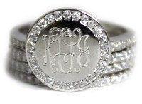 Sterling Silver Monogram Ring Engraved Ring by MonogramBelle on Etsy  MonogramBelle