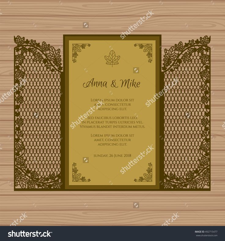 Wedding invitation or greeting card with the