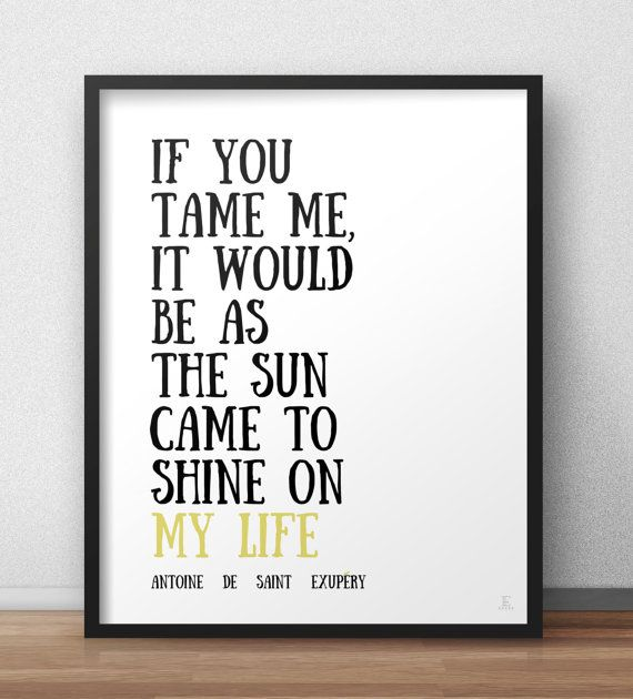 Little Prince fox quote print If you tame me the by Emblematical