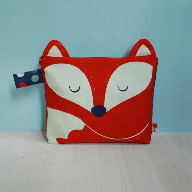 Fuchs Windeltasche für Baby Zubehör, Kulturbeutel für Mamas / cute fox diaper bag, washbag made by Tell Me via DaWanda.com