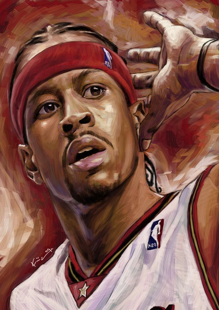 The Answer by KinKiat on deviantART ~ Allen Iverson ~ digital art using 2B pencil & palette knife