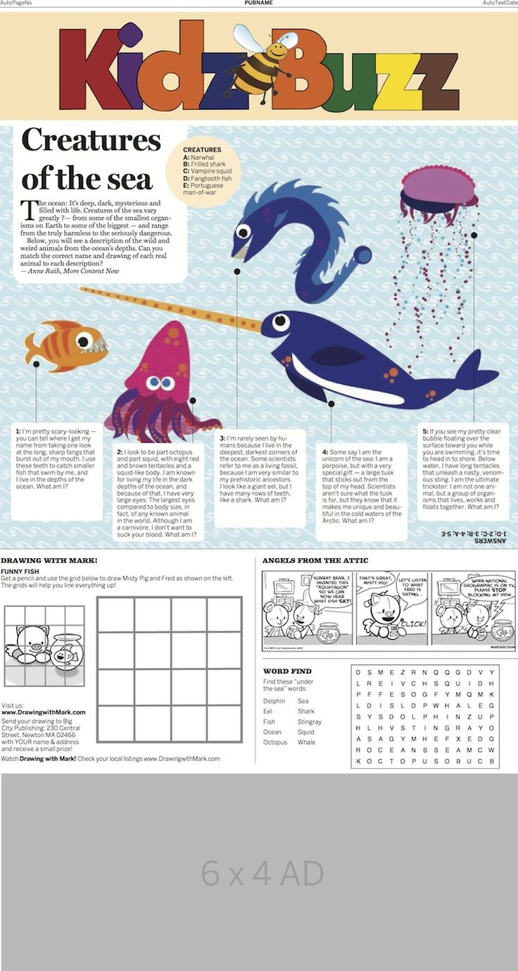 How well do your kids know the creatures that live under the sea?