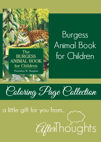 Afterthoughts: The Burgess Animal Book for Children Coloring Page Collection