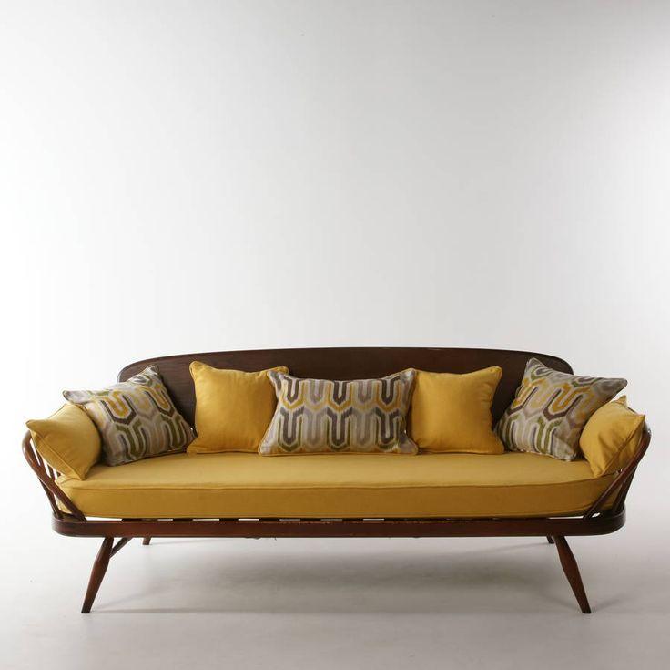 1960u0027s vintage refurbished and upholstered ercol sofa