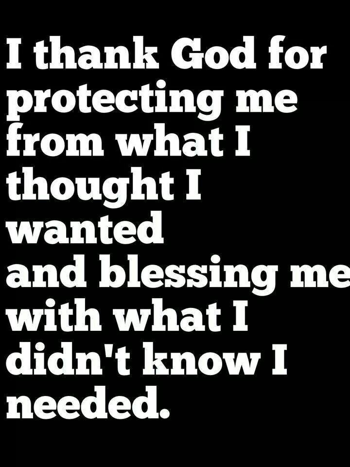 I thank God...