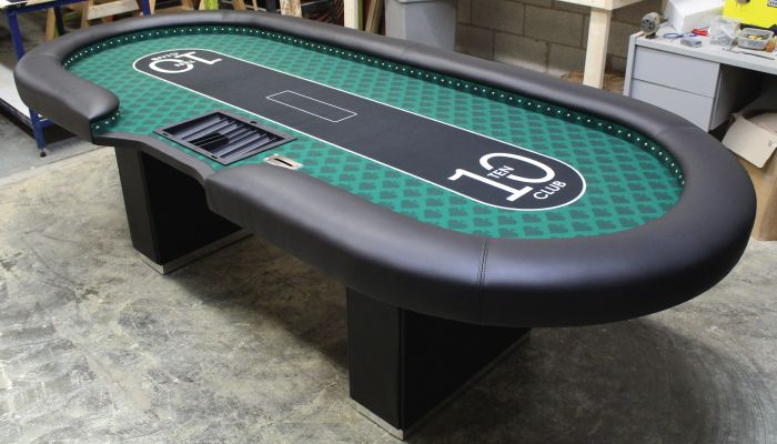 Poker Tables. This great poker table was built by Straight Poker Supplies in Toronto Ontario Canada. Straight Poker Supplies has been building custom casino tables since 2004, they also have a great selection of poker chips, poker supplies, raffle drums and more